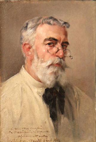 Auotportrait; Alphonse MOUTTE (1840+1913), succède en 1896 à Antoine-Dominique MAGAUD comme Directeur de l'Ecole Supérieure des Beaux-Arts de Marseille