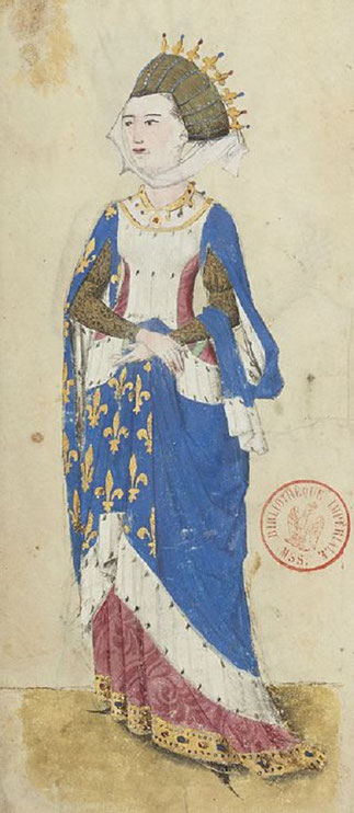 CHARLOTTE DE SAVOIE 1451 + 1483.  Fonds GAIGNIERES (Armorial d'Auvergne)