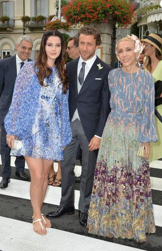 Lana del Rey, Francesco Carrozzini et sa maman Franca Sozzani  rédactrice en chef du Vogue italien