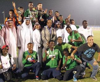 Al-Ahli champion d'Arabie saoudite. Entraineur : Nader Benkhelifa.