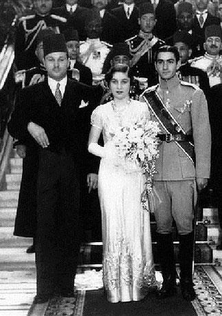 LA PRINCESSE FAWZIA, REINE D'IRAN DE 1939 à 1948.