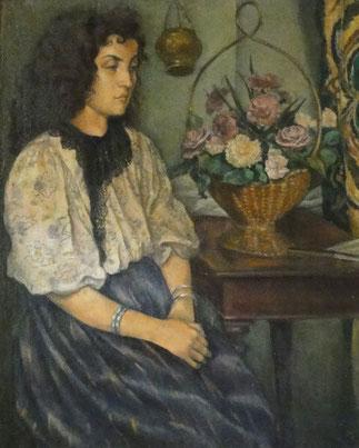 1895. EMILE BERNARD. PORTRAIT D' HANENAH SAATI, SA PREMIERE EPOUSE EGYPTIENNE.