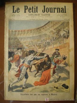 PERDIGON DE MIURA TUE EL ESPARTERO : 27 MAI 1894 à MADRID