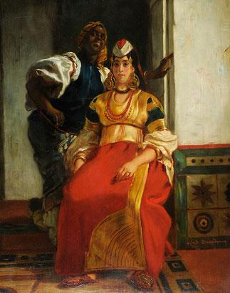 MARIEE JUIVE au MAROC. 1867. Alfred DEHODENCQ (1822-1882) Musée Saint Denis à REIMS.