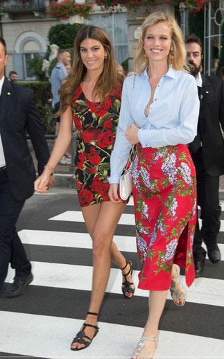 Bianca Brandolini d'Adda et Eva Herzigova