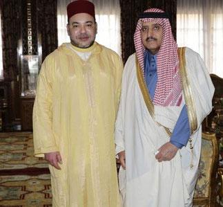 14 Février 2014. Sa Majesté Mohamed VI et Son Altesse Ahmed.