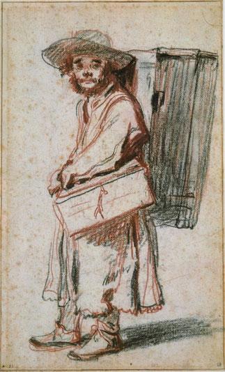 COLPORTEUR par WATTEAU. Musée BAYONNE     COLPORTEUR  CHINOIS du SHAN SI ..>>>>>>>>