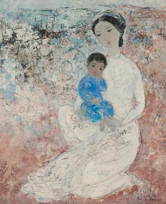 L'ENFANT EN BLEU HUILE SUR TOILE. .................        ............  <<<1963. MATERNITE. HUILE SUR TOILE