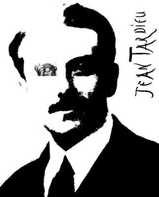 PORTRAIT DE JEAN TARDIEU, IMMENSE HOMME DE LETTRES, DE THEÂTRE, DE RADIO, POETE (1903-1995).