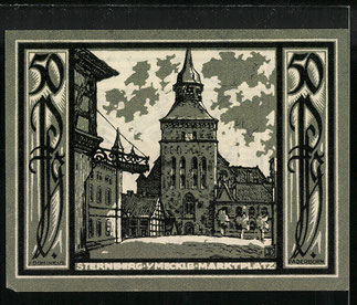 "VERSO. "" Billet nécessité Sternberg 1922 "". 50 Pfenny."