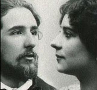 1907. RENCONTRE AVEC JOACHIM GASQUET (1873-1921), ami de CEZANNE et son épouse née MARIE GIRARD (1872-1960), filleule de MISTRAL, élue en 1892 reine du FELIBRIGE.(Photo vers 1900)
