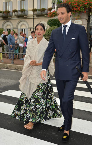 Noor Fares et son époux Alexandre Khawam. On se rappelle leur mariage des Mille et Une nuits à Honfleur le 13 Juin dernier