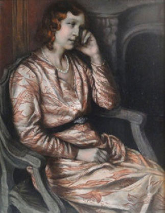 1933. EMILE BERNARD. PORTRAIT DE SA DERNIERE COMPAGNE CATHERINE SCHWARTZ.