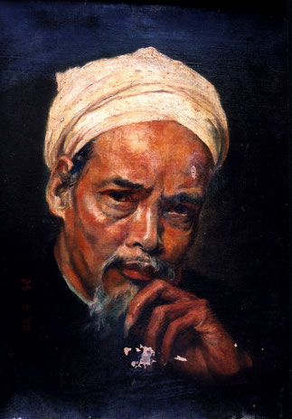 NAM SON. 1923. PORTRAIT DE SY DUC AVANT RESTAURATION.