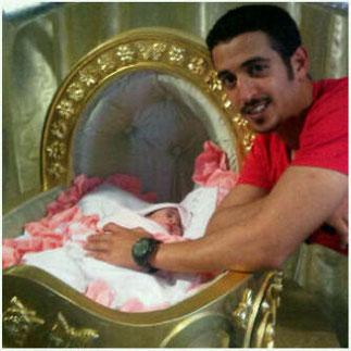 Le Prince Khalid avec sa nièce Reema bint Nasser, née le 15 Octobre 2012. Dans 2 mois il sera aussi Papa.