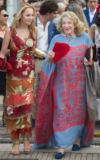 Paola et sa maman la Comtesse Marta Marzotto