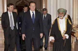 Février 2011. Bait al Baraka, le Sultan reçoit David Cameron