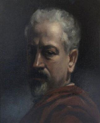 PORTRAIT DU PERE DE L'ARTISTE, MONSIEUR JULES MAIRE DECEDE EN 1916.