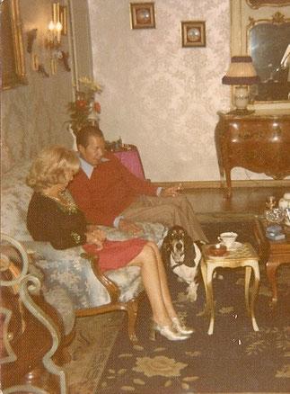 SA MAJESTE ET LA TRES DISCRETE Mme CHRISTIANE BLOCH-CARCENAC RENCONTREE EN 1957 ET DECEDEE EN 2009.