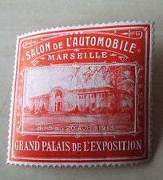 CETTE EXPOSITION, JUSTE AVANT LA GRANDE GUERRE A FAIT DE MARSEILLE LA CAPITALE MONDIALE DE L'AUTOMOBILE. CI-DESSOUS : VUE GENERALE DE L'EXPO.à L'INTERIEUR DU GRAND PALAIS.