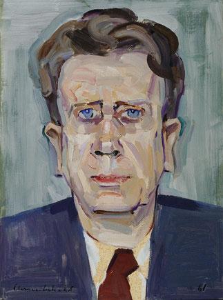 1961. Portrait de Fritz NOVOTNY par Arnold CLEMENTSCHITSCH 1887+1970