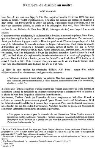 """TEXTE DE NGÔ KIM KHÔI : CATALOGUE DE L'EXPOSITION 2012  .."""" DU FLEUVE ROUGE AU MEKONG """"  AU MUSEE CERNUSCHI"""