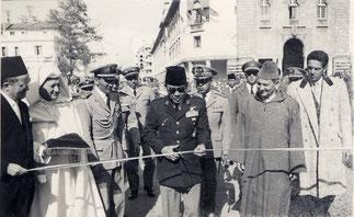A Tetouan avec le Président Soekarno.