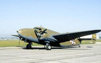 LOCKHEED LODESTAR C60 remis en 1981 au Musée USAF (United States Army Force).