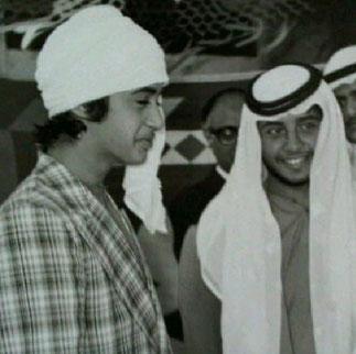 1976. Sheikh Mohammed (1961) et son demi-frère Sheilh  Sultan  (1955)