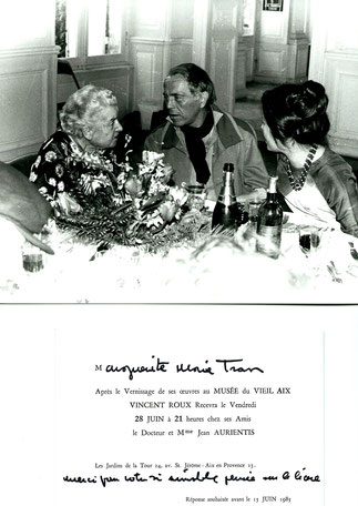 Vincent Roux et Eliette Meynieu,90 printemps à Pinterville chez Maguy tran