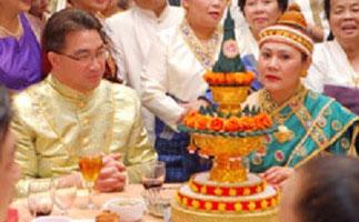 10 Novembre 2007. Mariage de S.A.R le Prince héritier avec la Princesse Chansouk Soukthala en présence de 800 invités, à Mississauga, Ontario, Canada.