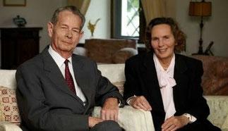 LL.MM. LE ROI MICHEL et LA REINE ANNE DE ROUMANIE, née Pcesse DE BOURBON  PARME
