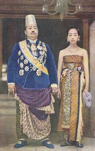 SUNAN PAKU BUWONO X et son épouse