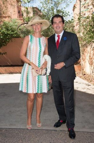 JUIN 2014. MARRAKECH. MARIAGE D'AXEL DE SAMBUCY DE SORGUE AVEC CHARLOTTE PAUL-REYNAUD.