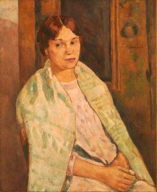 CIRCA 1902. EMILE BERNARD. PORTRAIT D'ANDREE FORT, SA 2è EPOUSE et SOEUR DE SON AMI LE POETE PAUL FORT.