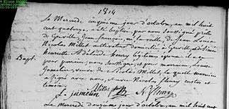 5 Octobre 1814.Baptême Jean-François Millet