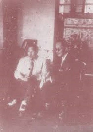 VISITE DE S. M. BAO DAI à l'EMPEREUR THANH THAI.à SAIGON