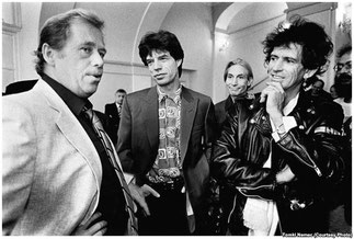 18 Août 1990 avec Mick JAGGER. Photographe Tomki NEMEC .MERCI