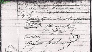 3 Février 1841 mariage civil Félix Bienaimé et Louise Antoinette