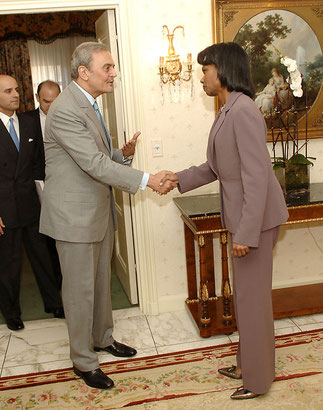 23 SEPT. 2007. SAR le PRINCE SAOUD ET CONDOLEEZZA RICE