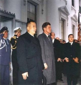 25 Février 1963. Le roi et Kennedy qui sera assassiné le Vendredi 22 Novembre 1963.
