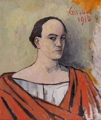 AUTOPORTRAIT DE PIERRE GIRIEUD (1876 à PARIS - 1948  NOGENT-SUR-MARNE) EPOUX DE MARTHE COHEN.