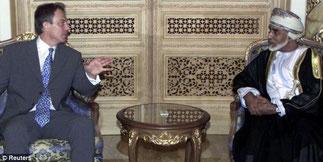 Avec le Premier Ministre Britannique Tony Blair.