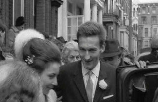 LONDRES 17 FEVRIER 1965. MARIAGE AVEC PIERRE ALEXIEVITCH ORLOFF (né le 13 Déc. 1938)