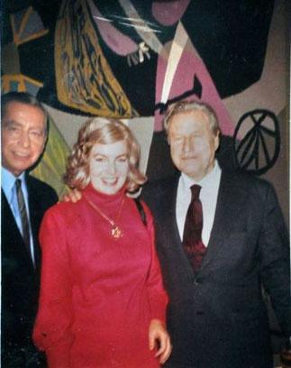 Diane VAN WIE,secrétaire particulière de NELSON,et MALCOLM WILSON  Gouverneur de l'Etat de New-York (après Nelson en 1975).