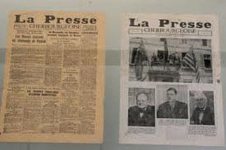 La Chronique cherbourgeoise La Victoire avec de Gaulle entre Churchill et Roosevelt