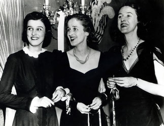 1937. Les 3 soeurs Cushing : Babe, Betsey, Minnie