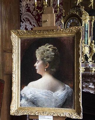 LA COMTESSE LOUIS R. CAHEN D'ANVERS née DE MORPURGO (1845-1926).Mère de ROBERT, IRENE, ELIZABETH, ALICE, CHARLES