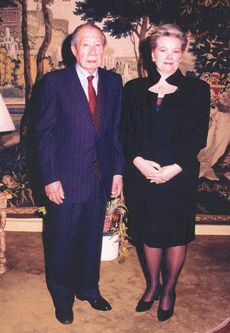 L'EMPEREUR BAO DAI à PARIS et sa dernière épouse la Princesse Monique Vinh Thuy née Monique Baudot..