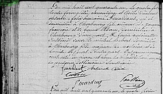 4 Février 1841 mariage religieux Félix Bienaimé et Louise Antoinette